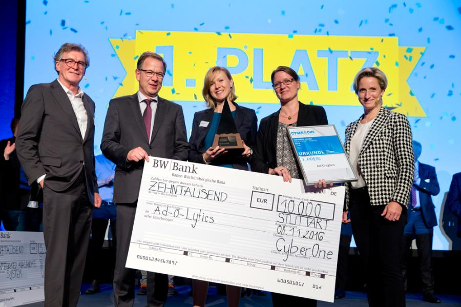 CyberOne Hightech Award 2016 verliehen